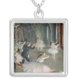 O ensaio do balé no palco, c.1878-79 bijuterias personalizadas