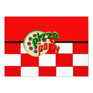 O envelope do partido da pizza convida convite 12.7 x 17.78cm