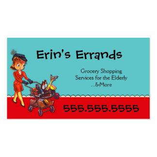 O Errand presta serviços de manutenção ao cartão d Cartão De Visita