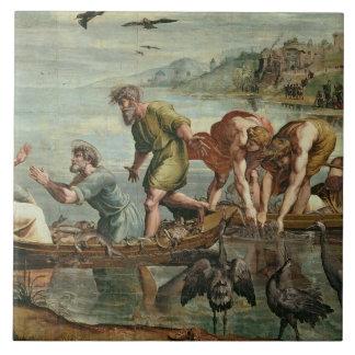 O esboço miraculoso dos peixes (desenhos animados  azulejos de cerâmica