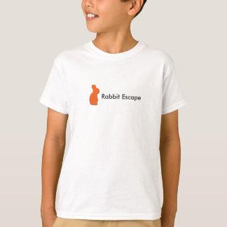 O escape do coelho caçoa o t-shirt camiseta