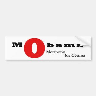 O escarlate de letra: Mormons para Obama Adesivo