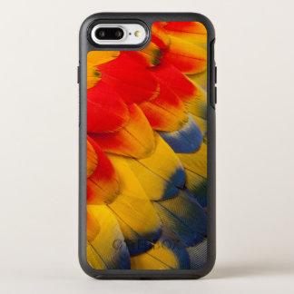 O escarlate do Macaw empluma-se o fim-acima Capa Para iPhone 8 Plus/7 Plus OtterBox Symmetry