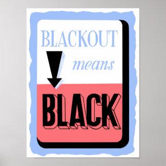 O escurecimento significa o preto -- Segunda Poster