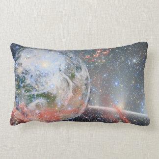 O espaço amortece a terra do planeta almofada lombar