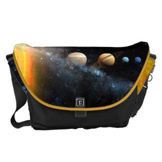 O espaço ensaca o sistema solar bolsa mensageiro