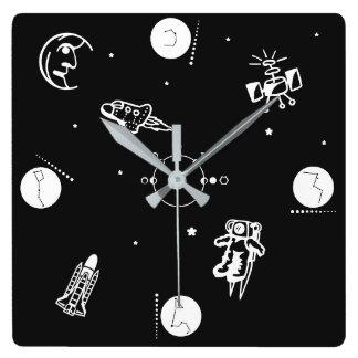 O espaço relógio quadrado