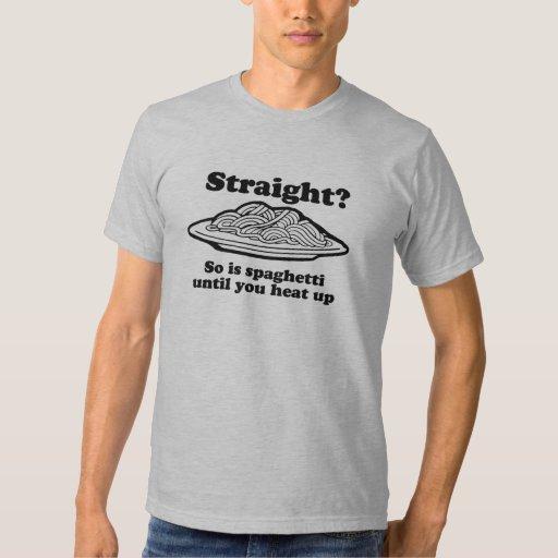 O espaguete é alegre t-shirts