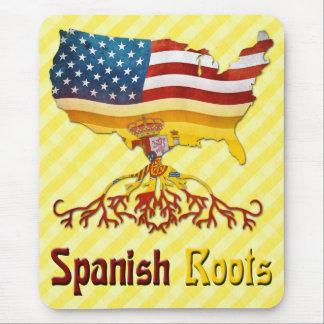 O espanhol americano enraíza Mousemat Mousepad