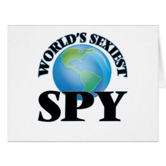"""O espião o mais """"sexy"""" do mundo cartão"""