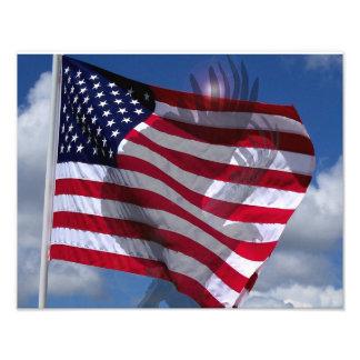 O espírito da foto de Eagle da bandeira americana Impressão De Foto