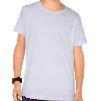 """O """"espírito do anos 80"""" caçoa o T azul do logotipo T-shirts"""