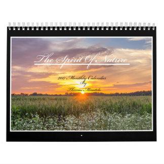 O espírito do calendário da natureza 2017 por Tom