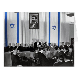 O estado de Israel declarou - 18 de maio de 1948 Cartão Comemorativo Grande