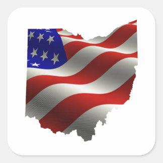 O estado de Ohio Adesivo Quadrado