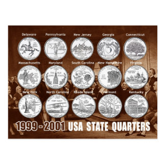 O estado dos EUA divide (moedas) 1999 - 2001 Cartão Postal