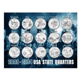 O estado dos EUA divide (moedas) 2002 - 2004 Cartão Postal