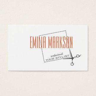 O estilista do corte de cabelo Scissors o cartão