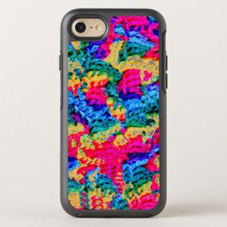 O estilo Crocheted w/Psychodelic colore Otterbox Capa Para iPhone 7 OtterBox Symmetry