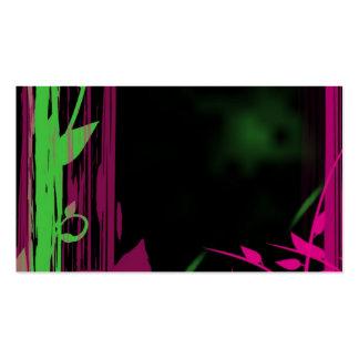 o estilo da natureza -- bambu & floral gráficos cartão de visita