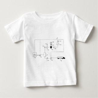 O estilo elétrico do gerador t-shirt