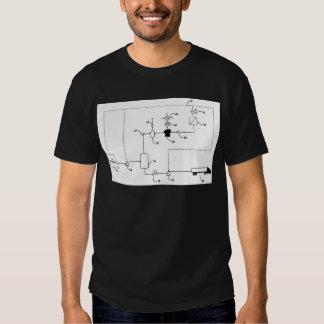 O estilo elétrico do gerador t-shirts