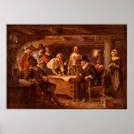 O estojo compacto de Mayflower por Jean Leon Gerom Pôsteres