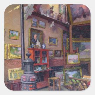 O estúdio 50, rua Santo-Didier Adesivo Quadrado
