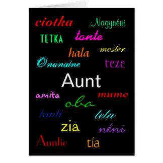 """""""O Eu de uma tia cartão de Aniversário"""" - customiz"""