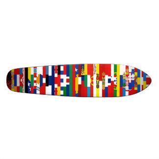 O europeu embandeira o skate