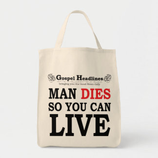 O evangelho Headlines a sacola Bolsas Para Compras