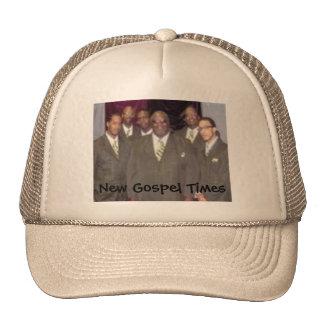 O evangelho novo cronometra (o chapéu da banda com bonés