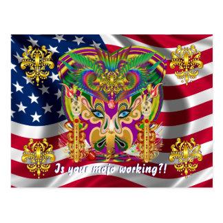 O evento do carnaval do carnaval vê por favor cartão postal