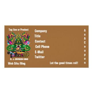 O evento do carnaval do carnaval vê por favor nota cartão com foto personalizado