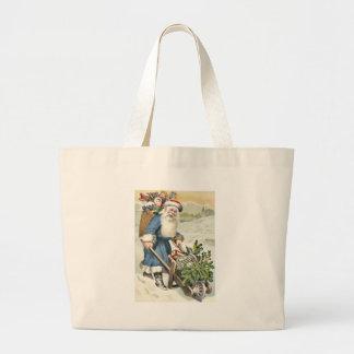 O Evergreen do carrinho de mão de Papai Noel Sacola Tote Jumbo