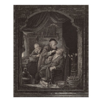O exame do dentista, era barroco, Gerrit Dou Pôster
