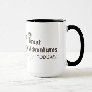 O excelente aventura-se a caneca do Podcast