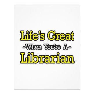 O excelente da vida quando você for um bibliotecár panfleto personalizados