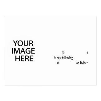 O exemplo que segue no Twitter adiciona a imagem & Cartão Postal