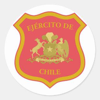 o exército chileno o Chile Adesivo Redondo