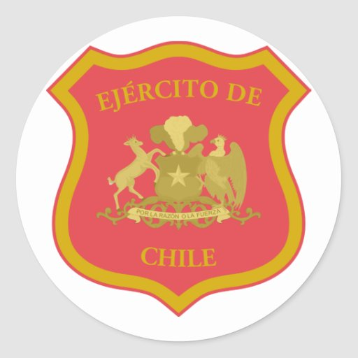 o exército chileno, o Chile Adesivo Redondo