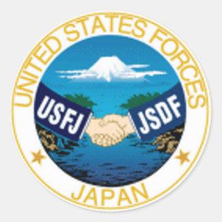 O exército Japão força o comando Adesivos Em Formato Redondos