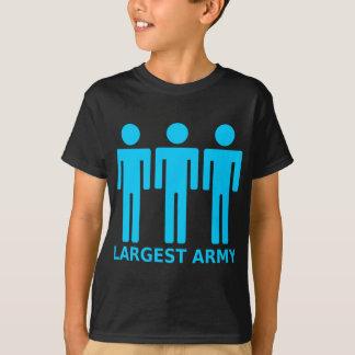 O exército o maior - azul bebé camiseta