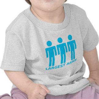 O exército o maior - azul bebé camisetas