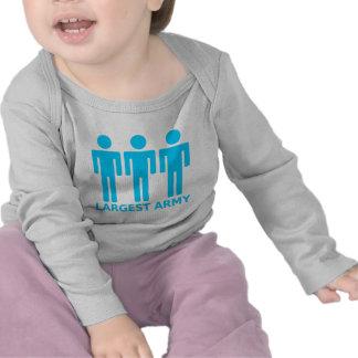 O exército o maior - azul bebé tshirt