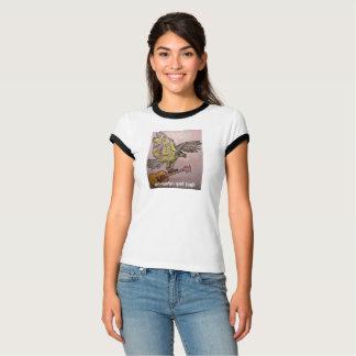 O falcão de peixes acústico acústico obtem alto camiseta