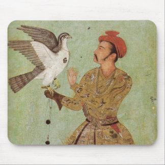 O falcoeiro, o ouro de Mughal & o tapete do rato Mouse Pad