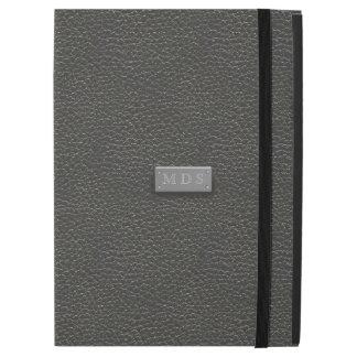 """O falso prateia caixa do iPad de couro preto do Capa Para iPad Pro 12.9"""""""