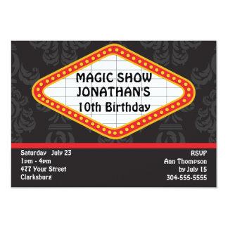 O famoso mágico da mostra convite