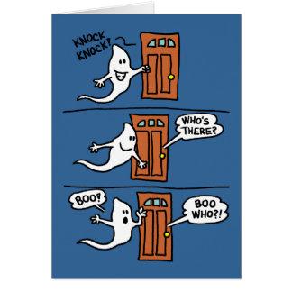 O fantasma dos desenhos animados do Dia das Bruxas Cartão